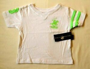 BEVERLY HILLS POLO CLUB BABIES T-SHIRT - WHITE - AGE 6-9 MONTHS - BNWT