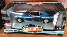 Ertl American Muscle 1/18 Blue 1969 Yenko Camaro Supercar Series Item #7740DO