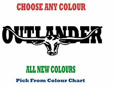 Mitsubishi OUTLANDER 580mm LONGHORN DECAL CHOICE OF COLOURS RM Williams STICKER