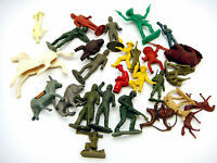 Lot of Vintage Plastic Playset Figures Animals