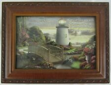 Cottage Garden Wood Hymnal Musical Jewelry Box Faith Lighthouse