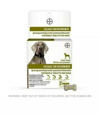 New listing Bayer Quad Dewormer 2 Chewable Tablets for Large Dogs (45 Lbs and Greater)