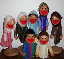 "7 Biblical Little People Puppets 13"" tall-Easter ministry,Christian Education"