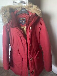WOOLRICH new women warm winter red duck down jacket coat parka size M