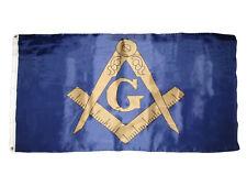 3x5 Blue and Bronze Gold Mason Masonic Freemason Flag 3'x5' House Banner (RAM)
