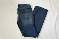 Banana Republic Women's jeans Size 30/ 10L wide leg flare bootcut pant med wash