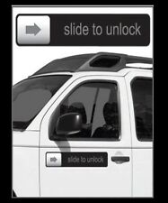 Slide To Unlock Magnet iPhone Joke prank funny gift for vehicle or car