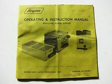 Acopian Regulated Power Supplies Operating & Instruction Manual Easton PA