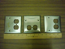 Lot of 3 Stainless Steel 4 1/2 x 4 1/2 inch Cover Plates *Nos*
