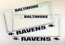 2 RAVENS License Plate Frame NEW Auto Truck FREE SHIPPING Baltimore Ravens