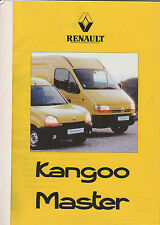 RENAULT KANGOO and RENAULT MASTER MAJOR PRESS RELEASE FOLDER +++ Feb 1998