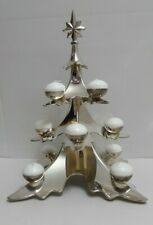 Godinger Pottery Barn 12 Light Ball Candle Christmas Tree Silverplate