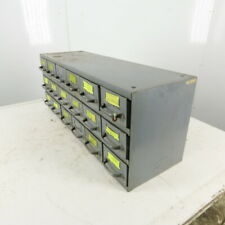Equipto 18 Drawer Industrial Metal Small Parts Cabinet 34-1/4