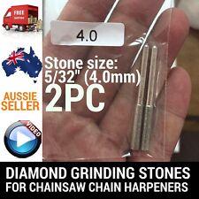 2 X 5/32 DIAMOND GRINDING STONES FOR CHAINSAW CHAIN SHARPENER OREGON STIHL ETC