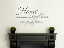 Home, Friends and Family Wall Art Quote, Wall Sticker, Modern Transfer, PVC