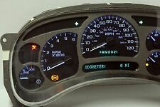 03 04 Silverado Yukon Denali Instrument Cluster with BLUE LED upgrade $50 BACK