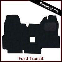 FORD TRANSIT 2000-2006 Double Passenger Seat Tailored Carpet Car Mat BLACK