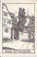 869 Aus Oetisheim um 1920 Ansichtskarte Baden Württemberg