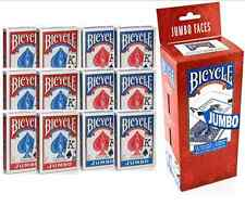 Bicycle Playing Cards 12 Decks  Jumbo  6 Red & 6 Blue