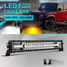 "Tri Row 23"" 22Inch 1296W LED Light Bar Combo Offroad Driving Fog Lamp PK 24"" 20"""