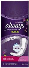 Always Fresh Xtra Protection Daily Liners, Clean Scent, Extra Long 30 ea (4pk)