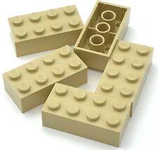 Lego 5 New Tan Brick 2 x 4 Building Blocks Pieces