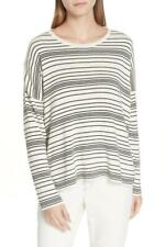 New with Tag - $248 Eileen Fisher Stripe Organic Cotton Sweater Size S