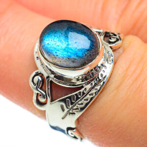 Labradorite 925 Sterling Silver Ring Size 7.5 Ana Co Jewelry R47025F