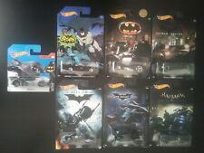 7x HOT WHEELS DC comics BATMAN complete full set of 6 with 1 extra (hotwheels)