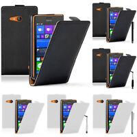 Accessoires Etui Housses Coque Cuir Véritable Protection Seri Nokia Lumia