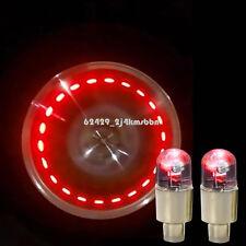 4Pcs Red LED Wheel Tyre Tire Air Valve Stem Caps Decoration Light Lamp For Honda