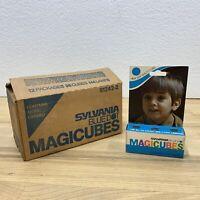 10 New Vtg Sylvania Blue Dot MAGICUBES Camera Flash Cubes 3-Pack 12 Flashes Each