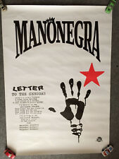 LA MANO NEGRA - Letter To The Censors - 1991 / Affiche concert - Poster vintage