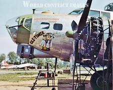 USAAF WW2 B-17 Bomber Old Timer 8x10 Color Nose Art Photo 34th BG RAF Mendlesham