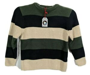 THE CHILDRENS PLACE Boys Stripe Long Sleeve Crew Neck Pullover Sweater sz S NWT