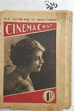 CINEMA CHAT #5 1918,MOVIE REVIEWS GOSSIP NEWS, RARE,36pp FILM MAG