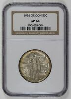 1926 OREGON TRAIL Half Dollar NGC MS-64