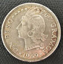 DOMINICAN REPUBLIC  1937   1 PESO  SILVER .
