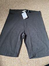 H+M Ladies Grey Cycling Shorts Size Medium Bnwt
