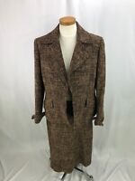 Ellen Tracy Women's Wool Cotton Blend Brown Skirt Suit 8 10