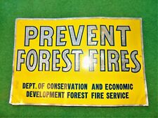 Vintage 40s Pre-Smokey Bear PREVENT FOREST FIRES Flexible Aluminum Metal Sign #1