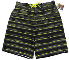 7020844509 Joe Boxer Mens Board Shorts XXL Camo Striped Swim Trunks Acid Yellow