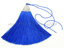 Big Colorful Cotton Silky Silk Handmade Trim Tassel Silver Plated Jewelry Design