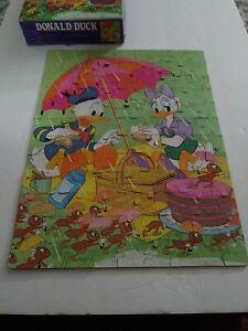 Donald Duck 1977 Whitman 100 Piece Puzzle Disney