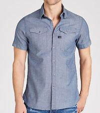 G-Star Raw S Mens Rinsed Blue Tocoma 2 Pocket SS Shirt BNWT Top Jumper T-Shirt