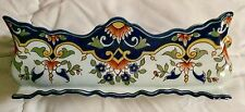 Antique Jardinaire French Pottery Rouen Signed Formaintraux-Courquin Co  Desvres