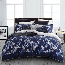 Logan and Mason SAKURA INDIGO Blue Queen Size Bed Doona Quilt Cover Set