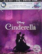 Cinderella NEW Anniversary Edition Blu-ray DVD Digital Code Best Buy Steelbook