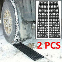 2 Pcs Car Recovery Traction Tracks Sand Snow Mud Tire Tyre Ladder 4WD Off Road