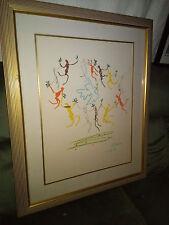 """Pablo Picasso Lithograph De La Ronde Jeunesse Dance La Paix Dance Mourlot 36""""X30"""